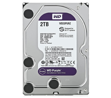 Жесткий диск HDD WD SATA3 2Tb Purple Video IntelliPower 64Mb (WD20PURZ)