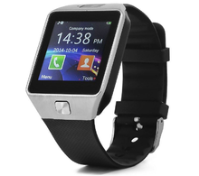 Умные часы UWatch DZ09 silver (Android, IOS, Динамик, Микрофон, SIM, MicroSD, Камера, Серебристый)