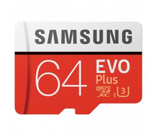 Карта памяти Micro SD (микро СД) 64GB Samsung Evo Plus (класс 10, адаптер) MB-MC64GA